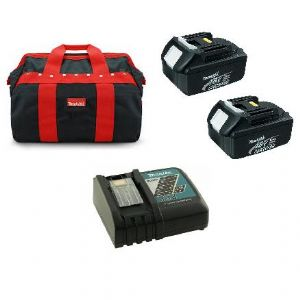 Makita 2 x BL1850 18V 5 Ah Li-Ion Battery  Pack with Charger Starter Set